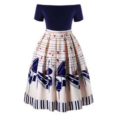 Cheap dress, Buy Quality swing dress directly from China midi dress Suppliers: Gamiss Plus Size Women Vintage Dress Music Notes Swing Retro Midi Dress Robe Femme Casual Swing Dresses Vestidos Dress 50s Dresses, Plus Size Dresses, Plus Size Outfits, Vintage Dresses, Vintage Outfits, Fashion Dresses, Maxi Dresses, Pretty Outfits, Pretty Dresses
