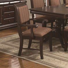 CROWN2146A-Merlot Arm Chair Stripe Cushion