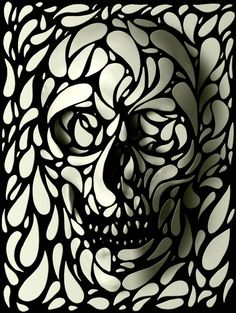 Skulls With A Twist by ali gulec, via Behance