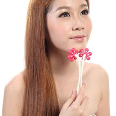 1pcs creative new style small flower shape face relax Massage roller different color( B336)