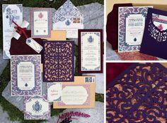 Ceci New York via CeciStyle | Lasercut Wedding Stationery #wedding #lasercut #invitations