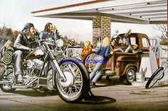 Easy Rider David Mann Original   Easyriders David Mann Biker Book Print Poster   eBay