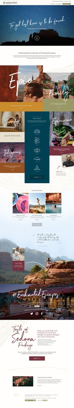 Enchantment Resort 30th Anniversary Travel Destination Website Design by Agency Dominion
