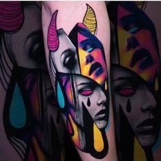 Tatouages illustratifs par Hans Deslauriers - Tatoueur Hans Deslauriers, tatouage réaliste illustratif de style d& couleur Future Tattoos, Love Tattoos, Unique Tattoos, Beautiful Tattoos, Body Art Tattoos, New Tattoos, Artistic Tattoos, Colorful Tattoos, 4 Tattoo