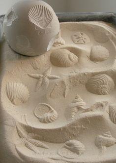 Amy Brier, Sea Shells Roliquery, Limestone, 7in diameter.jpg sandbox