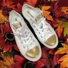 """Selling this """"LISTING Converse Gold Tip Shoes NWOB"""" in my Poshmark closet! My username is: cindyciara. #shopmycloset #poshmark #fashion #shopping #style #forsale #Converse #Shoes"""
