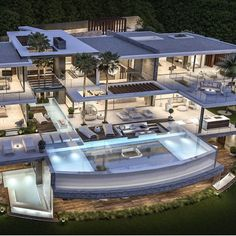 Unbelievable Marbella Villa Design - What is your favorite thing about it? Dream House Exterior, Dream House Plans, Dream Home Design, Modern House Design, Millionaire Homes, Dream Mansion, Modern Mansion, Luxury Homes Dream Houses, Villa Design