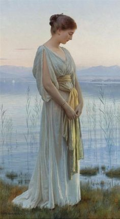"""Max Nonnenbruch (1857–1922) """"Evening by the Lake"""""""