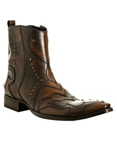 Mark Nason Retailers | Mark Nason : brown tonal leather 'Cantrall' ankle boots : style ...