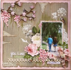 Layout by #Websters Pages design team member #Gabrielle Pollacco using their #Modern Romance and Composition & Color collections