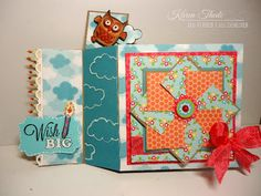 2013 TUTORIAL    Wiper Card and Pinwheel tutorial  the 'Wiper' Card technique which pops up an image or message but lays flat for easy mailing