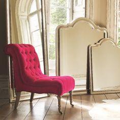 Zelda Nursing Chair in Pink Velvet