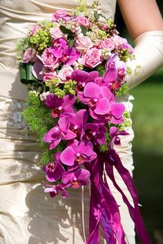 I never thought I could incorporate orchids into my bridal bouquet!