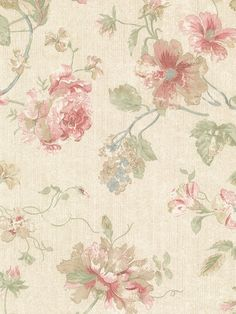 Brewster Madison Green Rose Floral Wallpaper   The Home Depot