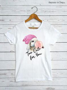 BUBBLE GUM BUNNY  women's hipster shirt funny t-shirt