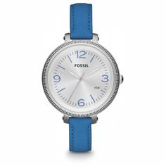 Fossil Heather Blue Leather Ladies Watch ES3279