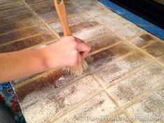 How to Whitewash Brick with chalk paint- Farm Fresh Vintage Finds