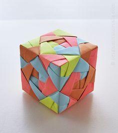 Sonobe Cube Lamp Tutorial