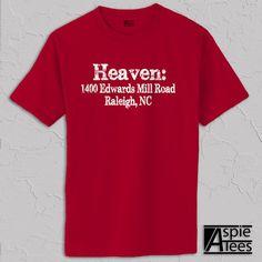 NC State Basketball T-shirt, pnc arena address, ACC basketball, distressed print (Men's Classic Tee S M L XL 2XL 3XL)