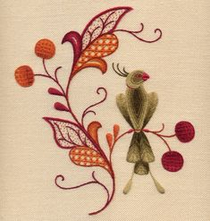 Crewelwork Embroidery Kit Erica's Perch by Melburyhill on Etsy