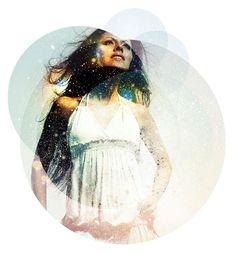 glitter and circles - graphic design