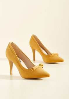 Pump at the Opportunity Heel in Goldenrod. A chance to showcase these faux-suede…