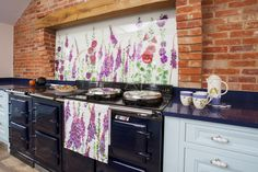 Up the garden path Splashbacks contemporary-kitchen Printed Glass Splashbacks, Red And Teal, Red Kitchen, Glass Wall Art, Color Of The Year, Fused Glass, Contemporary, Floral, Norfolk