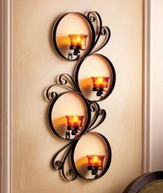 12 Delightful Wrought Iron Candle Holder For House Walls - Top Inspirations Wrought Iron Candle Holders, Wall Candle Holders, Candle Wall Sconces, Metal Wall Decor, Metal Wall Art, Wrought Iron Decor, Iron Furniture, Iron Art, Diy Candles