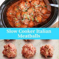 Slow Cooker Italian Meatballs Best Chicken Recipes, Healthy Crockpot Recipes, Slow Cooker Recipes, Cooking Recipes, Italian Meatballs, Crock Pot Cooking, Instant Pot, King Pro, Appetisers
