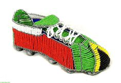 Zulu Beaded Soccer Cleat South African Flag World Cup | eBay