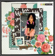 @simplestories layout from the ScrapRoom's April kit by @rochellespears