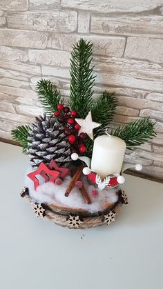 New Collection Of Easy Christmas Decorations – Page 22 Diy Christmas Gifts For Family, Easy Christmas Decorations, Christmas Centerpieces, Beautiful Christmas, Simple Christmas, Christmas Wreaths, Christmas Ornaments, Deco Table Noel, Xmas Crafts