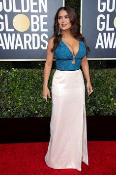 salma hayek - 2020 Golden Globes: See all the photos from the red carpet Beautiful Celebrities, Gorgeous Women, Beautiful Models, Salma Hayek Body, Salma Hayek Bikini, Jennifer Lopez Bikini, Secretary Outfits, Salma Hayek Pictures, Selma Hayek