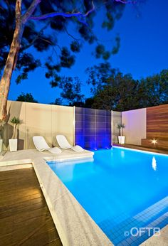 OFTB swimming pool construction and landscape architectural design team completed this Hampton, Melbourne plunge pool in 2007. It still stands up well against the work they are producing today which is testiment to the innovative design and constuction techniques used within the company on a daily basis.