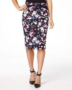 RW&co Flower print pencil skirt