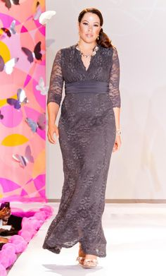 84c0703f0f2 Flatter your curves in pure elegance in our plus size Screen Siren Lace Gown.  As. Kiyonna Clothing