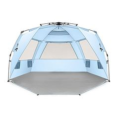 Easthills Outdoors Easy Up 4 Person Beach Tent Sun Shelte...
