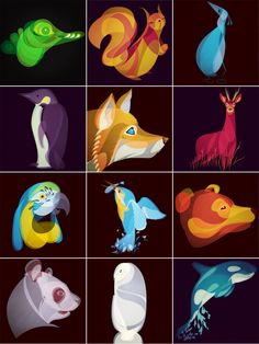 Fluid Animals by Ben the Illustrator That's awesome!