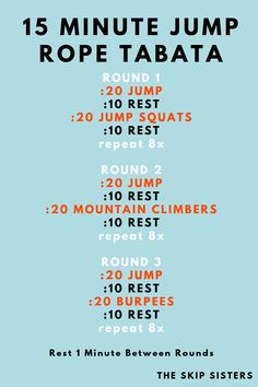 Jump Workout, Travel Workout, Hard Workout, Hiit, Tabata Workouts, Mini Workouts, Gym Workout For Beginners, Workout Videos, Beginner Jump Rope Workout