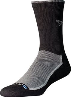 b1b4bd800 Drymax Trail Run Crew, Gray/Black, M Flat Toe Seam Arch band holds sock in  place Y Heel Improves Fit and Dual Layers keep feet dry Double Welt (water  ...