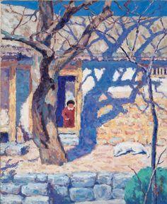 (Korea) by Whanki Kim (1913-1974). Oil on canvas.