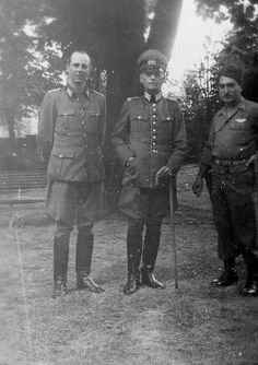 Generalfeldmarschall Gerd von Rundstedt and son with Sergeant Bisecha, US Army by GLORY. The largest archive of german WWII images, via Flickr