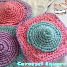 Carousel Square, free crochet pattern on Raising Robertson