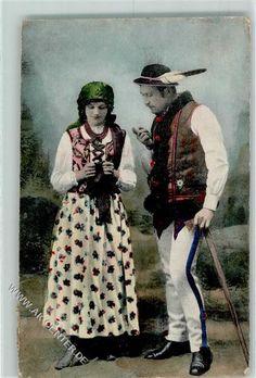 1914 Trachten Osteurope Frau Handarbeit AK