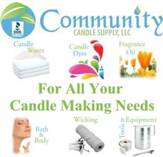 Everything you need to produce quality candle, bath & body products.