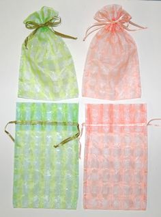 6 x 9 Checkered Organza Bags Organza Bags, Wedding Favors, Peach, Two Piece Skirt Set, Baby Shower, Lime, Prints, Color, Check