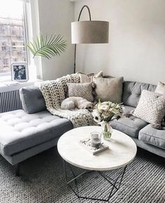 Cool 90 Fabulous Modern Minimalist Living Room Layout Ideas The post 90 Fabulous… – Living Room Inspiration – Living Room Ideas Cozy Living Rooms, Home Living Room, Gray Couch Living Room, Living Area, Apartment Living Rooms, Living Room Lamps, Living Room Decor On A Budget, Sectional Living Rooms, Corner Sofa Living Room Layout