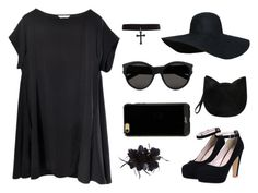 """""""Black for days!"""" by griselia-miranda on Polyvore featuring Forever 21, Yves Saint Laurent, Untold and Sonix"""
