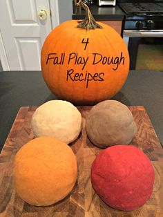 Scented, fall-themed playdough is so simple to make! Once you have your basic playdough recipe, it's really all about adding the coloring. Fall Activities for Kids Fall Preschool Activities, Preschool Crafts, Toddler Activities, Preschool Fall Crafts, Kindergarten Sensory, Preschool Cooking, Preschool Halloween, Playdough Activities, Preschool Songs