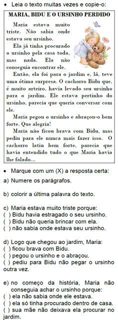 Texto MARIA, BIDU E O URSINHO PERDIDO, de Elisângela Terra